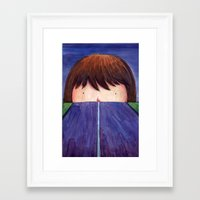 Ghost In The Road Framed Art Print
