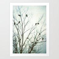 A Blue Gray Day Art Print
