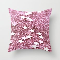 radiant orchid stars Throw Pillow