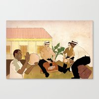 Plenazo con marimbola Canvas Print