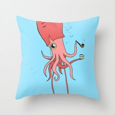 Gentlesquid Throw Pillow