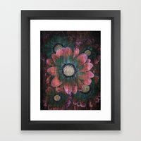 hippie flowers Framed Art Print