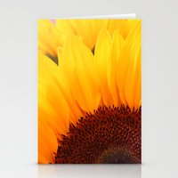 Stationery Card featuring Sunflower by Becky Dix