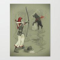 Little Red Robin Hood Canvas Print