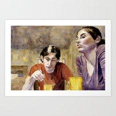 The Conversation Art Print