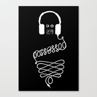 Possessed by the Beat (black) Canvas Print
