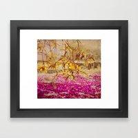 Autumn Pink Framed Art Print
