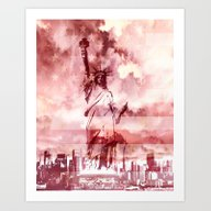 Art Print featuring The Statue Of Liberty by Sney1