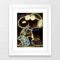 Too Cool Snoopy Framed Art Print