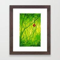 Green Christmas Framed Art Print