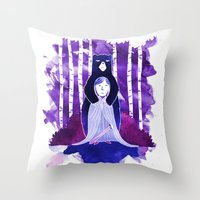 The Bear And The Maiden … Throw Pillow