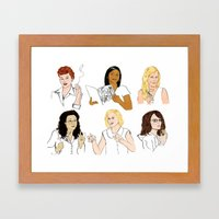 Funny Ladies Framed Art Print