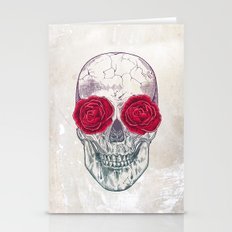 Skull & Roses Stationery Cards