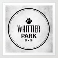 Whittier Park Art Print