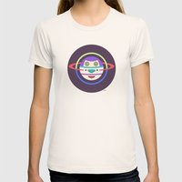 Spaceman 2 Womens Fitted Tee Natural SMALL