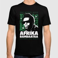 The Mighty Souls: Afrika Bambaataa Mens Fitted Tee Black SMALL