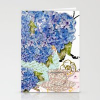 Hydrangea Collage Stationery Cards