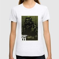 Random Solider 01 Womens Fitted Tee Ash Grey SMALL