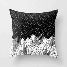 Cosmic Crystals Throw Pillow