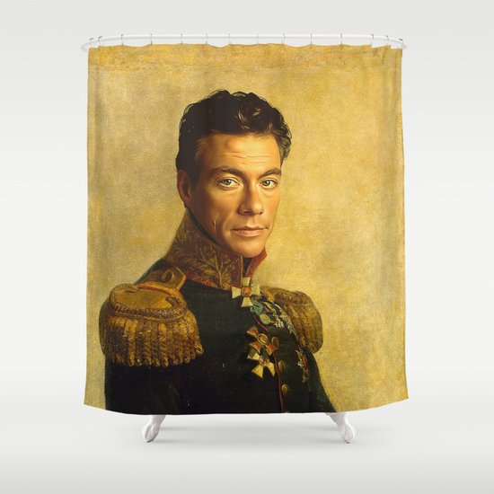 Jean Claude Van Damme - replaceface Shower Curtain