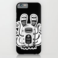 iPhone & iPod Case featuring Rabbit Wormed (BW) by Exit Man