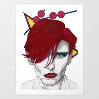 Ziggy Girl Art Print