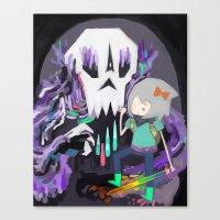 Skull Icon Canvas Print