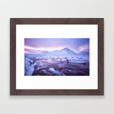 Freezing Mountain Lake Landscape Framed Art Print