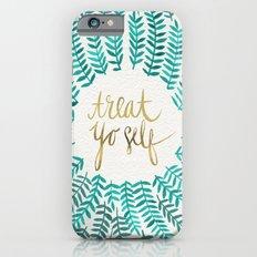 Treat Yo Self – Gold & Turquoise iPhone 6 Slim Case
