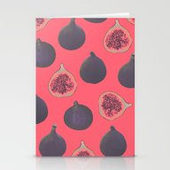 Stationery Cards featuring Fig Pattern by Georgiana Paraschiv