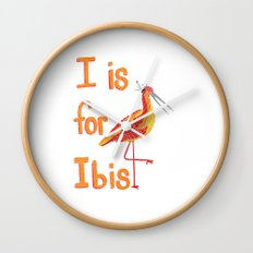 I is for Ibis Wall Clock