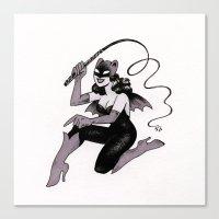 Obey Gerbilgirl! Canvas Print