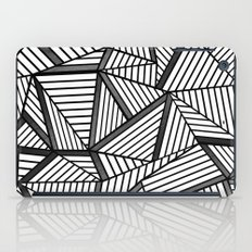 Ab Lines 2 Black and White iPad Case