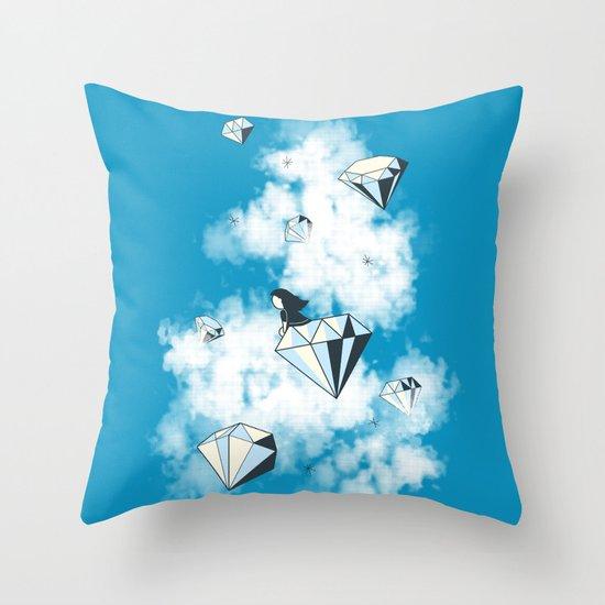 Like a Diamond in the Sky Throw Pillow