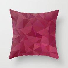 Maroon triangle tiles Throw Pillow