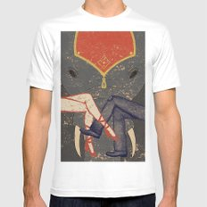 Circus Romance White Mens Fitted Tee SMALL