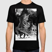 French Bulldog Mens Fitted Tee Black SMALL