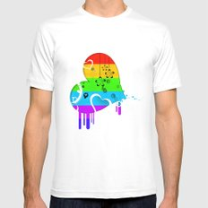 Rainbow Love Mens Fitted Tee White SMALL