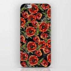 Poppy Pattern On Calkboard iPhone & iPod Skin