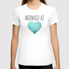 Mermaid At Heart  |  Teal Womens Fitted Tee White SMALL