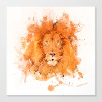 Splatter Lion Canvas Print