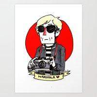 Warhol Doodle Art Print