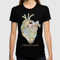 A Traveler's Heart Womens Fitted Tee Black SMALL