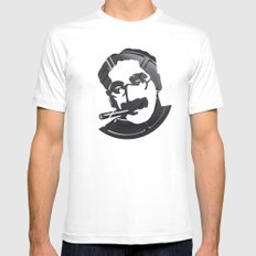 Groucho Marx White SMALL Mens Fitted Tee