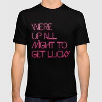 Get Lucky Mens Fitted Tee Black SMALL