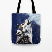 Wolf's breath Tote Bag