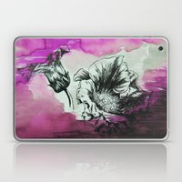 Flowers In Magenta Fog Laptop & iPad Skin