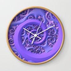 Frozen Purple Wall Clock