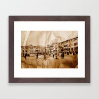 Creased Memories I Framed Art Print