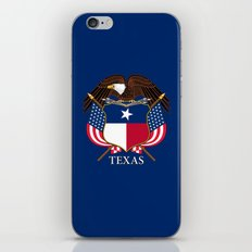 Texas flag and eagle crest - original concept and design by BruceStanfieldArtist iPhone & iPod Skin